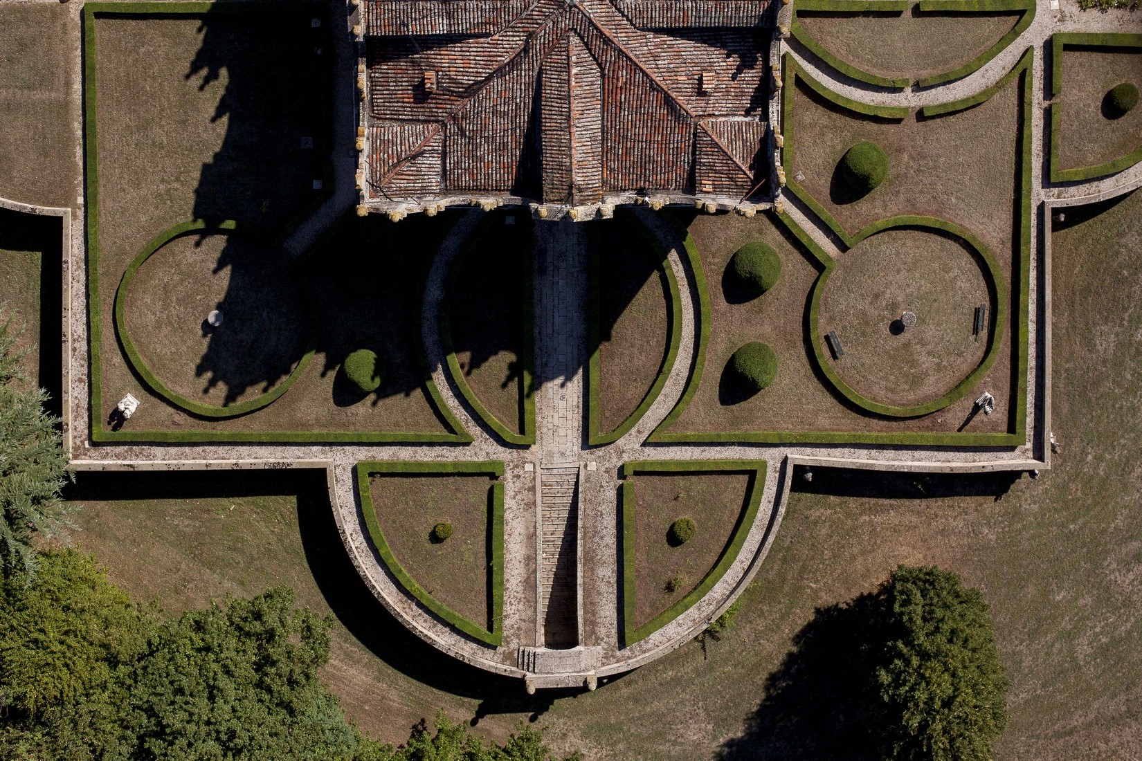 Estate aerial view