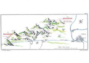 mappa dei colli euganei